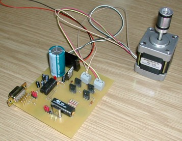 low-cost stepper motor controller